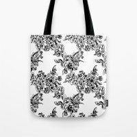 Cabbage Roses Tote Bag