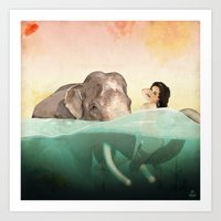 The Bath Art Print