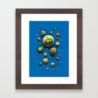 Emoticontagious Framed Art Print