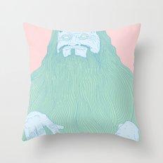 Big Bushy Beard Throw Pillow