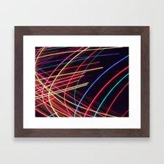 Crazy lights. Framed Art Print