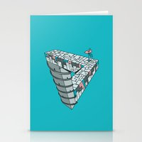 Up and Down City Stationery Cards
