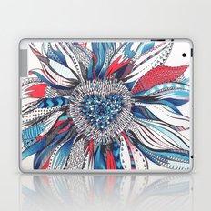 Flower Patterns on White Laptop & iPad Skin