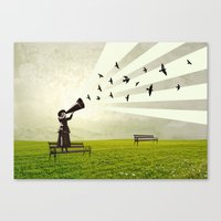 Singing Birds Canvas Print