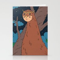 Owl King Stationery Cards