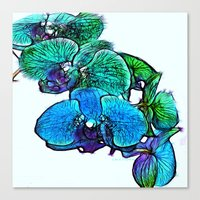 :: Orchids By The Sea :: Canvas Print