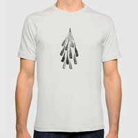 Abstract Mens Fitted Tee Silver SMALL