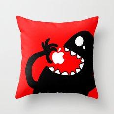 apple eater Throw Pillow