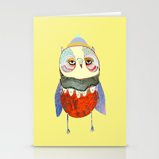 Owl Chick Stationery Card