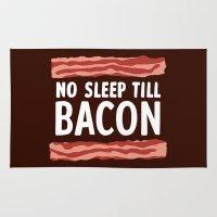 No Sleep Till Bacon Rug