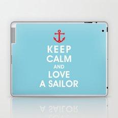 Keep Calm and Love A Sailor Laptop & iPad Skin