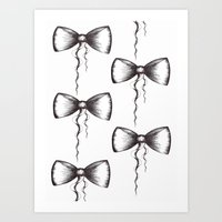 Bow Pattern Art Print