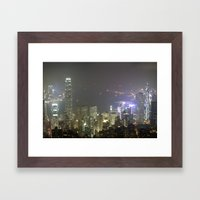 Hong Kong Night View 2014 Framed Art Print