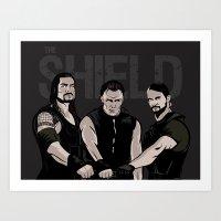 WWE - The Shield Art Print