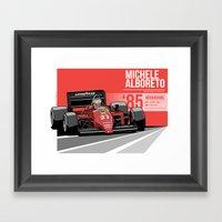Michele Alboreto - 1985 … Framed Art Print