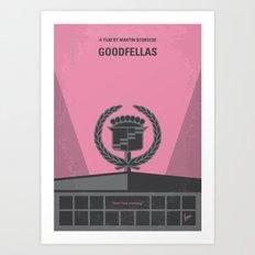 No549 My Goodfellas minimal movie poster Art Print