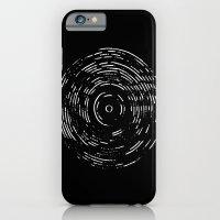 Record White On Black iPhone 6 Slim Case