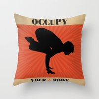 Occupy Your Body Throw Pillow