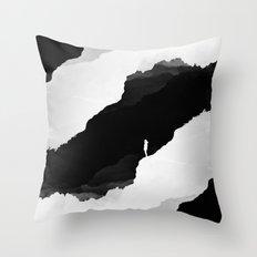 Black Isolation Throw Pillow