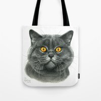 British Shorthair Cat  G… Tote Bag