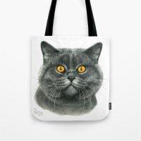 British shorthair cat  G120 Tote Bag