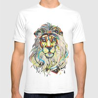 The Lion  Mens Fitted Tee White SMALL