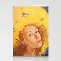 Yellow Selfportrait  Stationery Cards