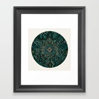 Intimate Portait In Gree… Framed Art Print