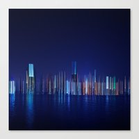 Miami Skyline Abstract Canvas Print