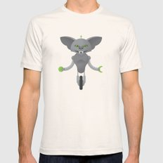 Gremlin / Robot Mens Fitted Tee Natural SMALL