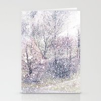 Snow In Early Fall(2). Stationery Cards