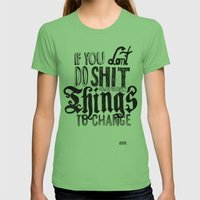 Things to change Womens Fitted Tee Grass SMALL