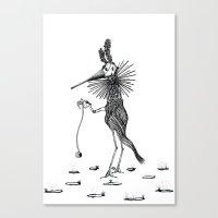 Yo-yo Canvas Print
