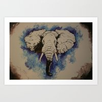 Glorious Elephant Art Print