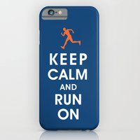 Keep Calm and Run On (male runner) iPhone 6 Slim Case