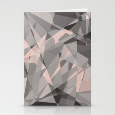 Shattered - Rose Gold Stationery Cards