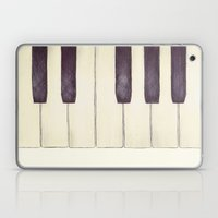 Ebony and Ivory Laptop & iPad Skin