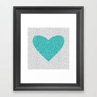 Aqua Love Framed Art Print