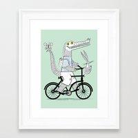 The Crococycle Framed Art Print