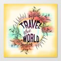 Travel the World Canvas Print