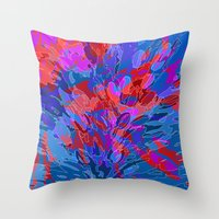 Exploding Coral Throw Pillow