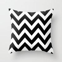 BLACK AND WHITE CHEVRON Throw Pillow