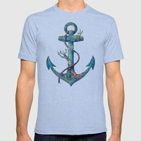 Lost at Sea Mens Fitted Tee Tri-Blue SMALL