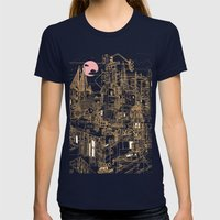 San Francisco! (Night) Womens Fitted Tee Navy SMALL