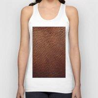 Leather Texture (Dark Brown) Unisex Tank Top