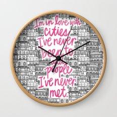 Cities Wall Clock