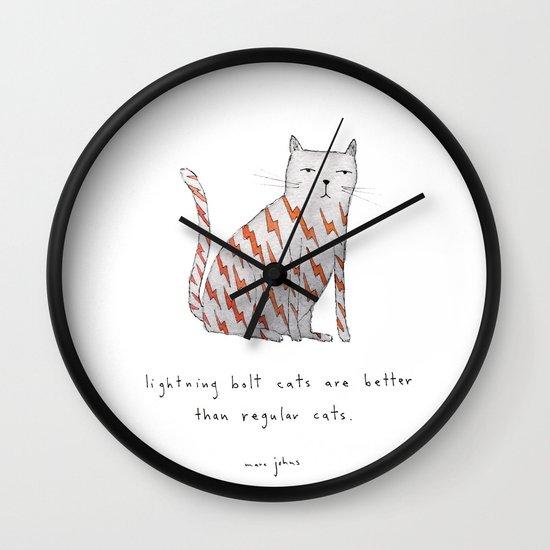 lightning bolt cats are better Wall Clock