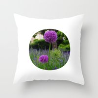 Lila Spring Throw Pillow