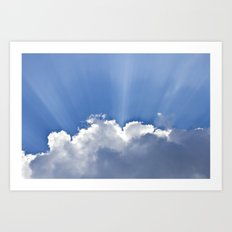 Clouds over Seaside Art Print