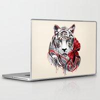 tiger Laptop & iPad Skins featuring White Tiger by Felicia Atanasiu